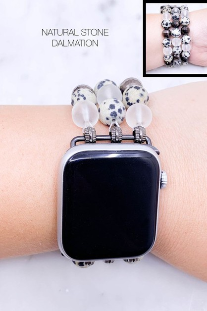 Semi Precious Stone Apple Watch Band - orangeshine.com