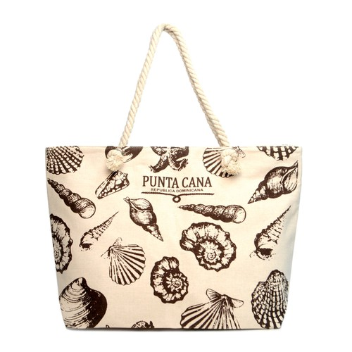 Seashells Ladies Tote Bag Punta Cana - orangeshine.com