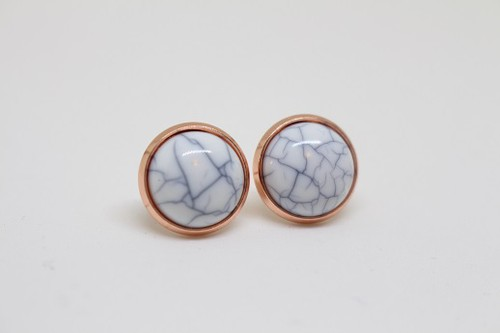 Glass Gold Earrings - orangeshine.com