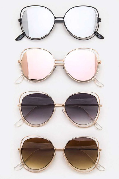 Oversize Wired Fashion Sunglasses Se - orangeshine.com