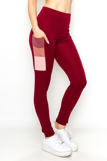 Color blocked yoga pants  - orangeshine.com