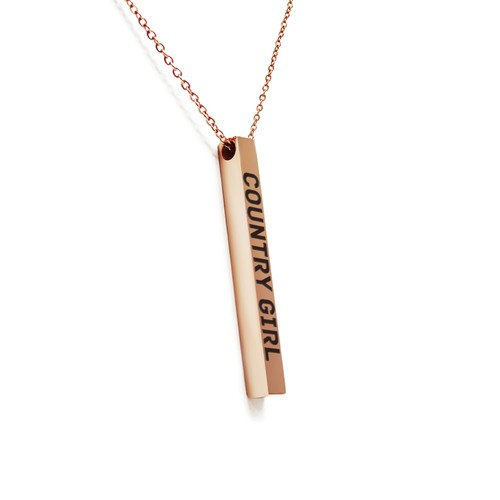 COUNTRY GIRL BAR NECKLACE - orangeshine.com