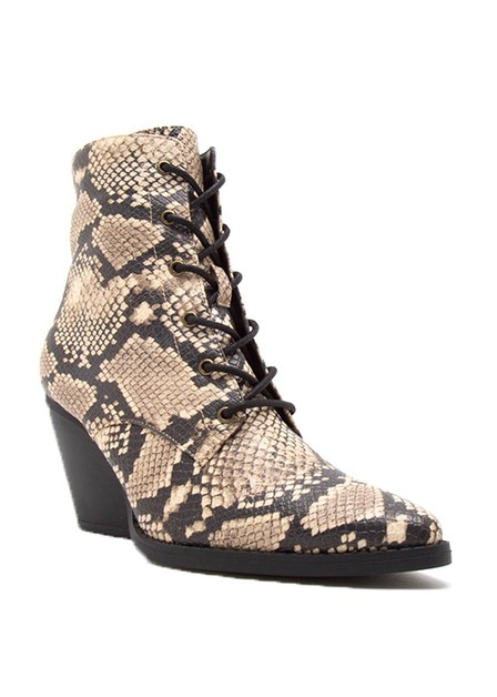 WEDGE ANKLE BOOTIE WITH LACE - orangeshine.com
