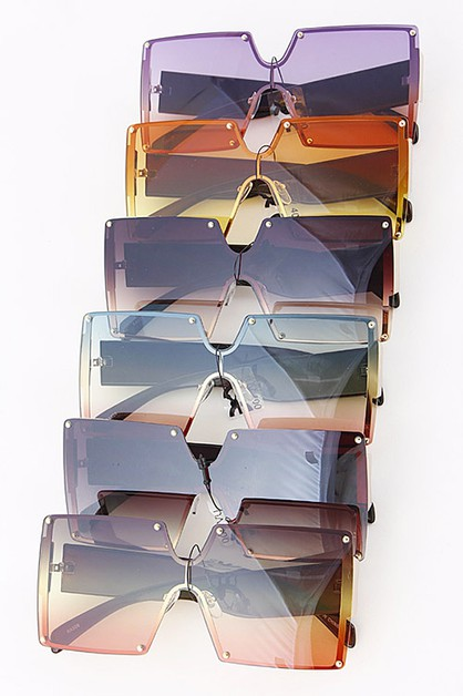 Square Iconic Mix Tone Sunglasses Se - orangeshine.com