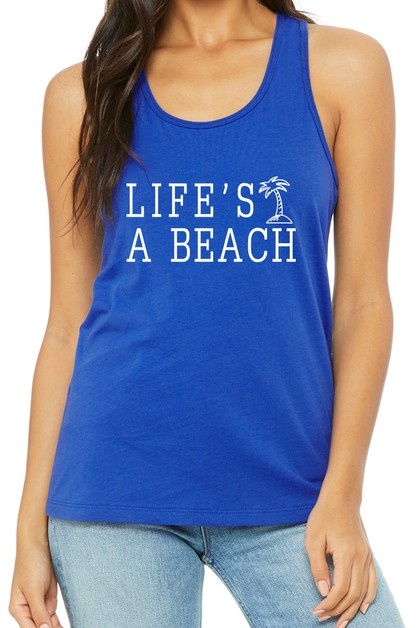 LIFES A BEACH TANK TOP - orangeshine.com