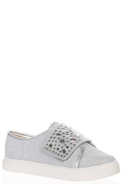 JEWELED TOP SNEAKERS - orangeshine.com