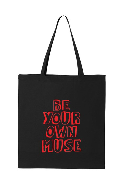 BE YOUR OWN MUSE TOTE BAG - orangeshine.com
