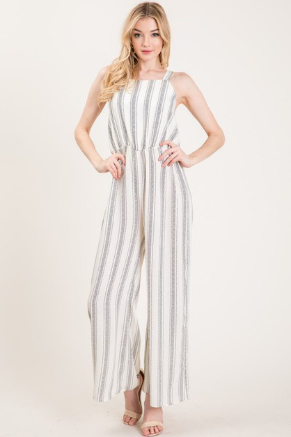 DOT STRIPE JUMPSUIT - orangeshine.com