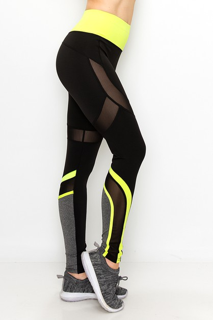 Color blocked yoga legging - orangeshine.com