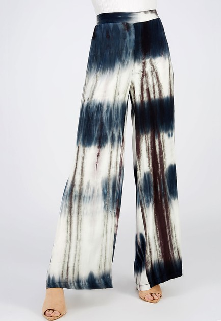 TIE DYE WIDE LEG PANTS - orangeshine.com