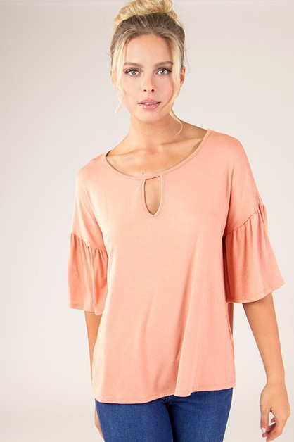 Chic Bell Sleeve Top - orangeshine.com