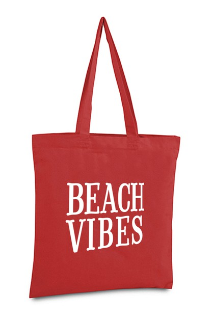 BEACH VIBES TOTE BAG - orangeshine.com