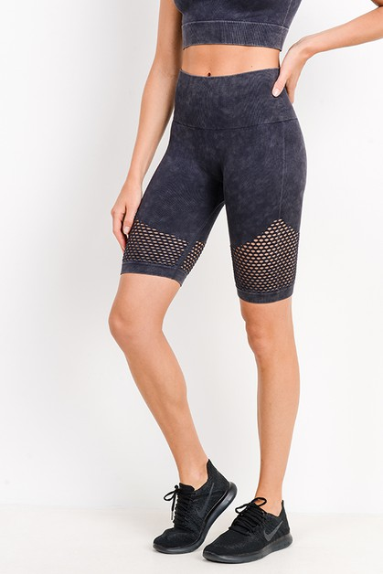 Highwaist Mineral Wash Seamless Perf - orangeshine.com