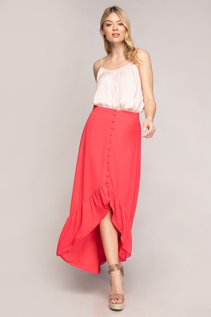 MAXI HIGH-LOW BUTTON FRONT HIGH LOW  - orangeshine.com