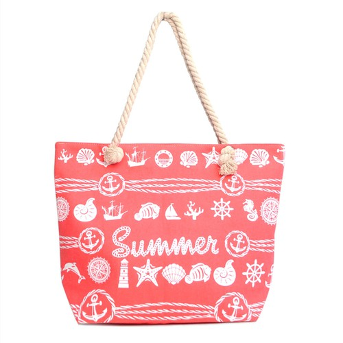 Red Summer Ladies Tote Bag - orangeshine.com