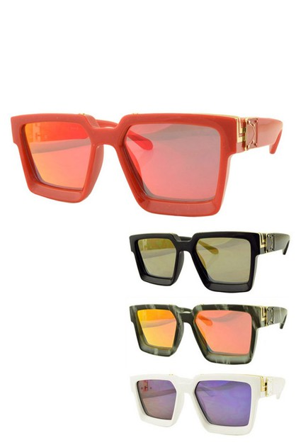 Color Lens Iconic Square Sunglasses - orangeshine.com