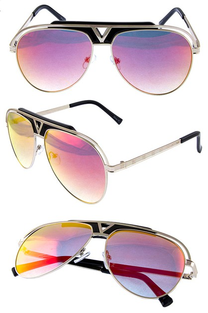 Womens glamour aviator metal sunglas - orangeshine.com
