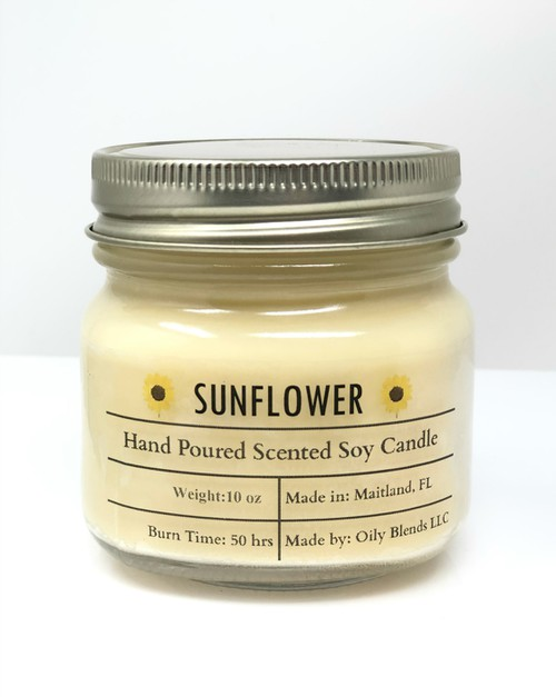 Sunflower Summer Soy Wax Candle - orangeshine.com