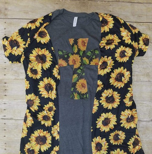 SunflowerCardigan - orangeshine.com