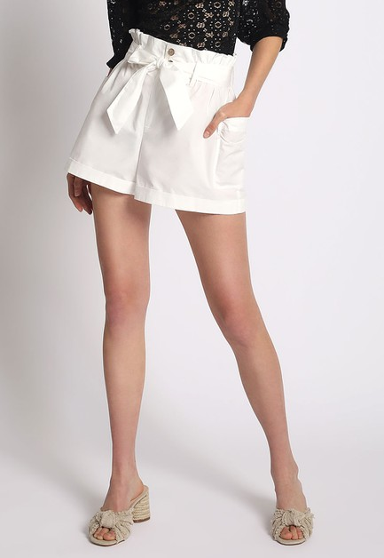 PAPER BAG WAIST SHORTS - orangeshine.com