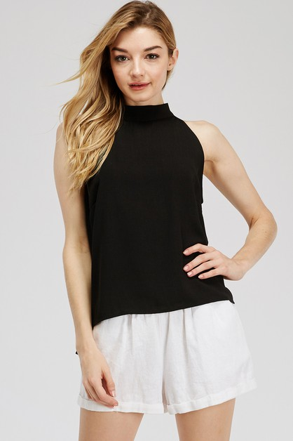 MOCK NECK TOP - orangeshine.com