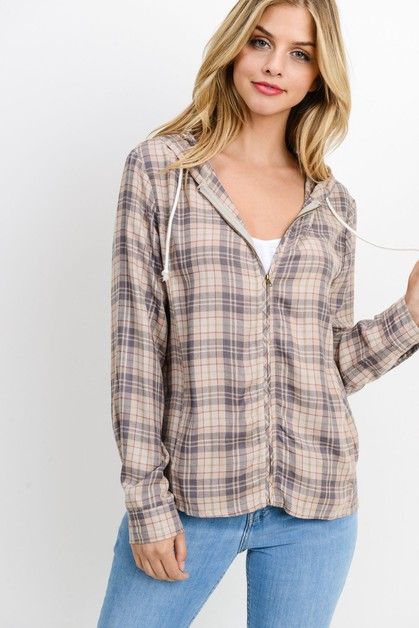 Plaid Lightweight Sweater - orangeshine.com