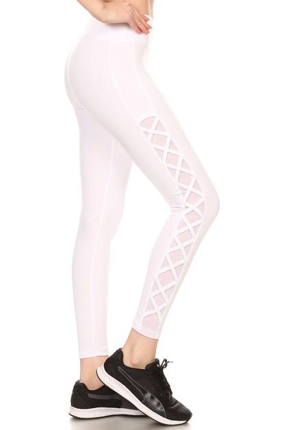 16735f6527f96 Criss Cross Mesh Sport Leggings Yoga - orangeshine.com