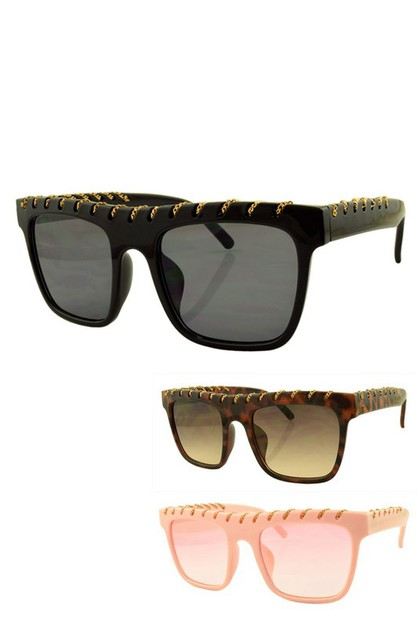 Chain Stitched Frame Iconic Sunglass - orangeshine.com