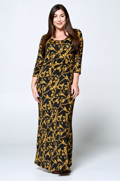 CHAINS KNIT MAXI DRESS - orangeshine.com