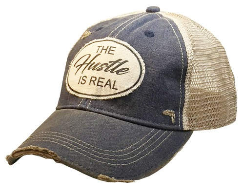 The Hustle Is Real Hat  - orangeshine.com