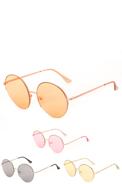 Thin Round Fashion Sunglasses - orangeshine.com