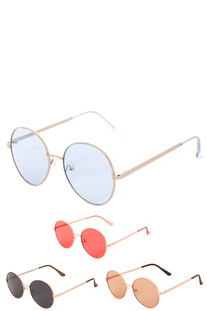 Fashionable Round Sunglasses - orangeshine.com