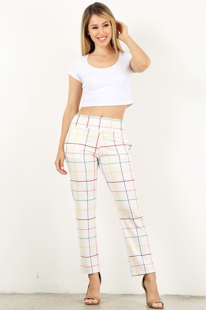 stripe loose pocket pants - orangeshine.com