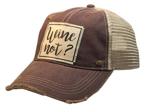 Wine Not Hat Trucker Cap - orangeshine.com