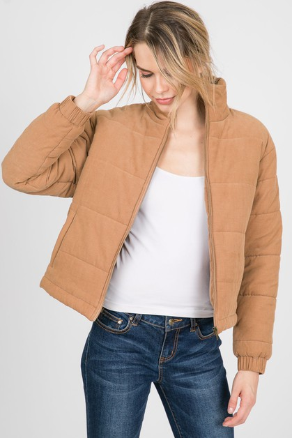 Puffy Long Sleeves Jacket - orangeshine.com