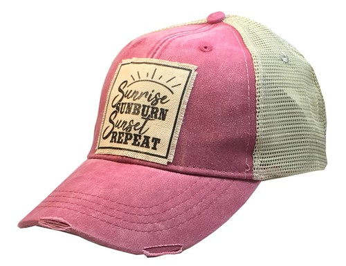 Sunrise Sunburn Trucker Hat Cap - orangeshine.com