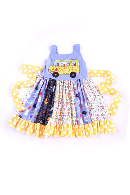 School Bus Swirl Dress - orangeshine.com