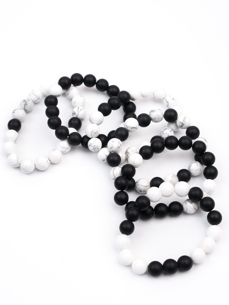 Brittney Marble Beaded Bracelets - orangeshine.com