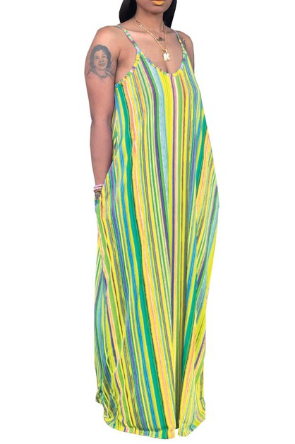 ONE PIECE MAXI DRESS DEEP V NECK LON - orangeshine.com