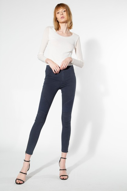 MOTO JEGGINGS WITH ANKLE ZIPPERS - orangeshine.com