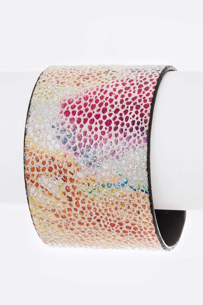 Metallic Mix Color Adjustable Cuff - orangeshine.com