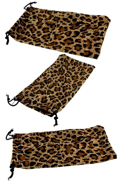 cheetah animal fashion soft pouch  - orangeshine.com