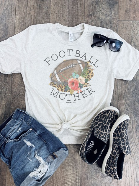 Football Mother Graphic Tee - orangeshine.com