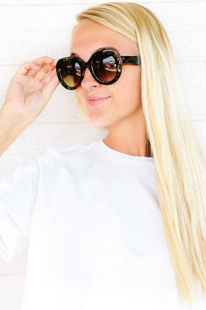 Glam Girl Tortoise Shell Sunnies - orangeshine.com