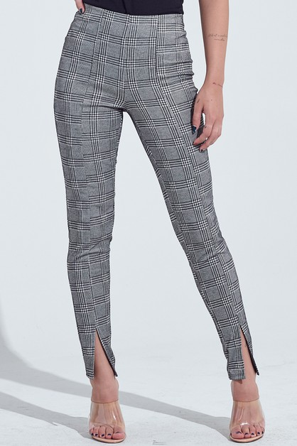 GLEN CHECKER PANTS - orangeshine.com