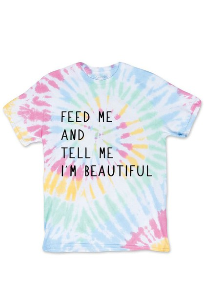 FEED ME TIE DYE SHIRT - orangeshine.com