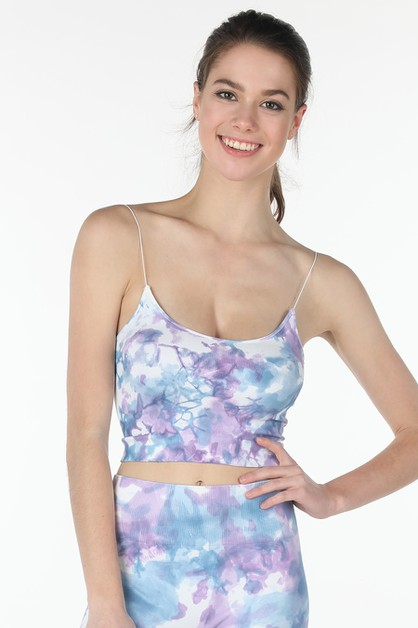 Blossom Tie Dye Crop Top - orangeshine.com