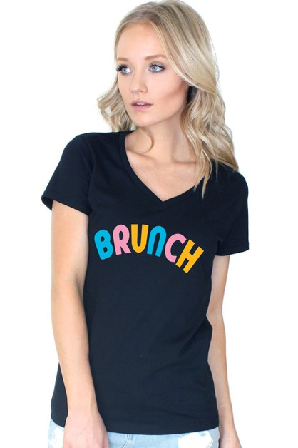 BRUNCH V NECK TOP - orangeshine.com