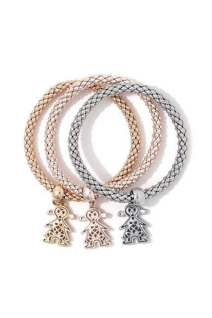 CHARM DANGLE STRETCH BRACELET SET - orangeshine.com