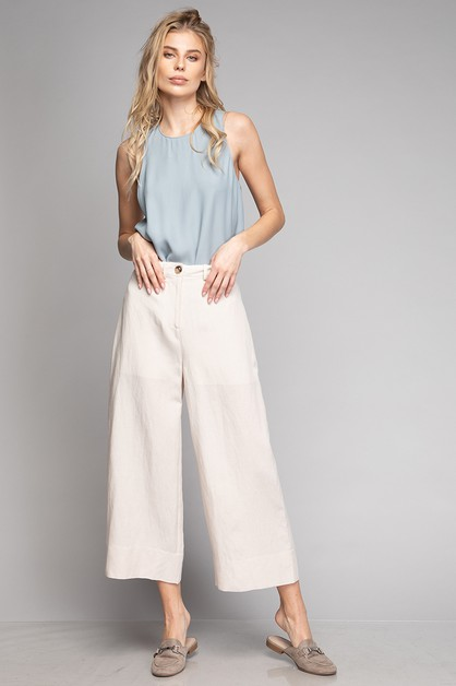 CULOTTE WIDE LEG HIDDEN POCKET  - orangeshine.com